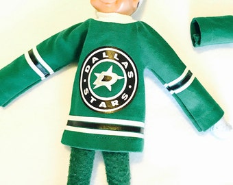 Dallas Stars Hockey Jersey for Christmas Elf or Ken Doll