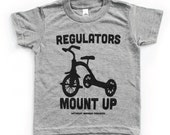 Best Baby Gift. Unique Baby Gift. Toddler Clothing. Toddler t shirt. Regulators Mount Up Grey Tri blend toddler shirt.