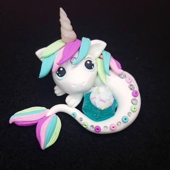 """OOAK """"Eira"""" Baby Dragon, Polymer Clay Dragon Figurine, Collectable, Miniature, Polymer Clay, Dragon, Fantasy"""