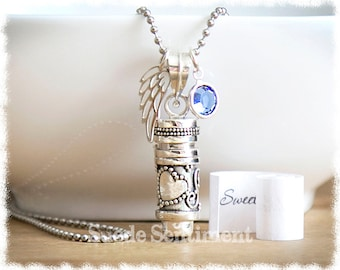 Cremation Jewelry • Memorial Necklace • Urn Necklace • Cremation Locket • Miscarriage Jewelry • Remembrance Pendant