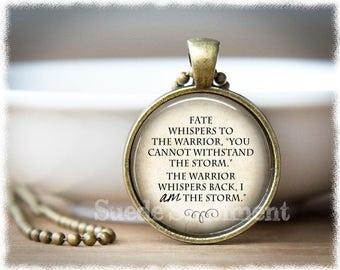 Inspirational Jewelry • I Am The Storm • Motivational Jewelry • Warrior Quote • Inspirational Gift • Recovery • Strength