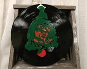 Christmas Tree Decoration - Vinyl Record Christmas Art - Upcycled/Repurposed Vinyl Record - Christmas Decorations - Gift for Music Lover