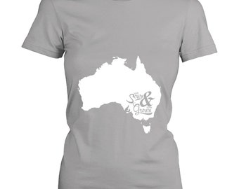 """Custom State or Country Womens Fit T-shirt, """"roots sown & home grown"""", State Pride tshirt, Graduation Gift Idea, XS-4XL, 10 Colors"""