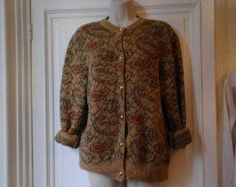 Vintage 80  wool cardigan