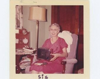 "Vintage Snapshot Photo: ""SIS. Me & my new Toastmaster"" c1960s (73557)"