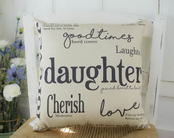 Daughter Gift Quote Pillow Gift for Her. Birthday gift for daughter.