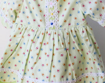 "SALE 40% OFF! 18-20"" Pale Green Butterfly Waldorf Doll Dress and Pantaloon Set"