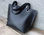 Custom made brown tote bag.