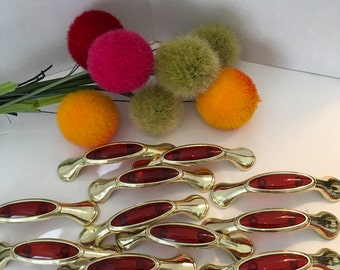 REGENCY DRAWER PULLS, Gold and Red, Drawer Pulls/Regency, Furniture Supplies, New Orleans Style, Sold Separately at Ageless Alchemy
