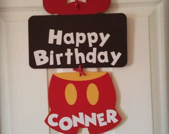 Mickey Mouse Birthday sign-Mickey Mouse Birthday