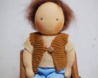 Waldorf doll, boy 12.5 inch