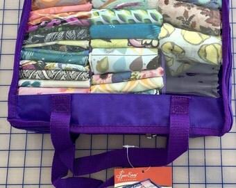 Mini Fat Quarter Nylon Bag Purple - great for retreats or travel ON SALE