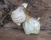 Smiling Goat, Super Cute Goat, Ceramic Goat ornaments, Ceramic Goat figures