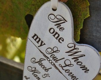 Newlywed Christmas Ornament - The One Whom My Soul Loves - Newlywed Chrsitmas Gift