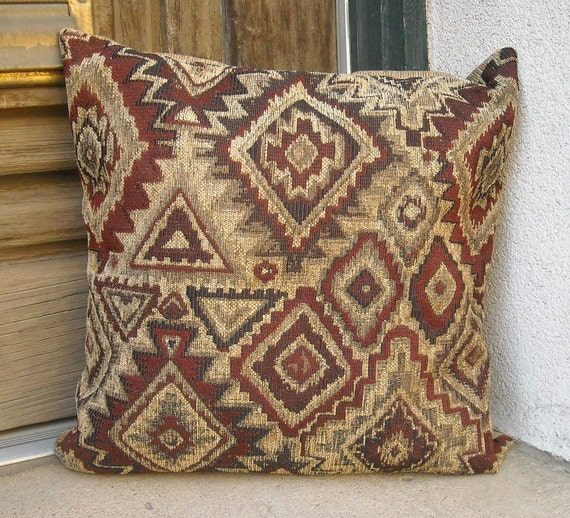 Southwestern pillow cover. Taos made. 16 x 16 to 24 x 24.
