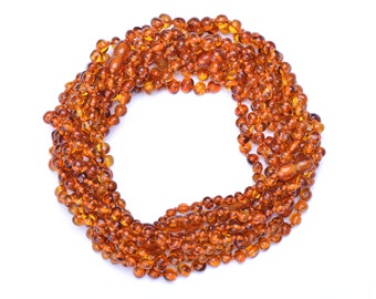 Baltic Amber teething necklaces for babies wholesale -  10 Necklaces - Safety Knotted - Best Amber from Lithuania