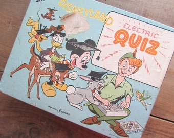 Disneyland Electric Quiz Collectible Jacmar Electric Toy Battery Operated Toy Board Game Disney Collectable Toy