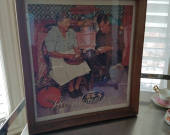 Norman Rockwell, Thanksgiving, Print, art, collectible, framed