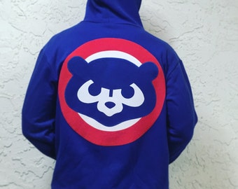 the Cubs retro zippy hoodie by Frozen Kiss