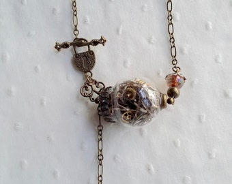 Necklace steampunk swell of glass