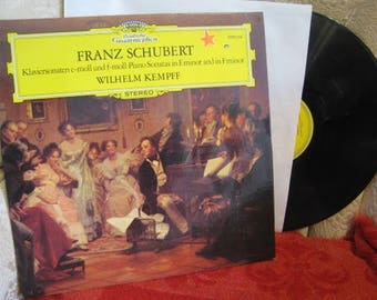 Kempff Schubert Piano Sonatas E minor F minor DG LP 2530 354 NM+