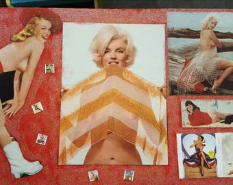 Glitterfied, Vintage Pin up Magazine table