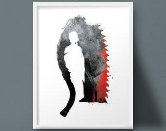Bloodborne Saw Cleaver Art Print Yharnam Doll Design