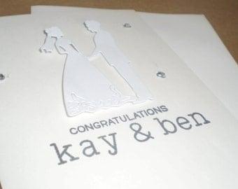 Handmade Peronalized Wedding Congratulations Card