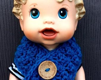 Crochet Blue Babydoll Scarf