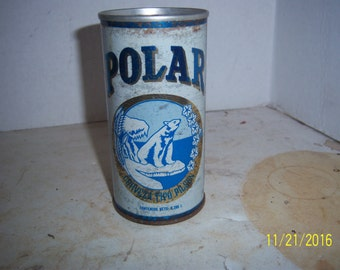 1970's Polar Bear Pilsener Beer Venezuela Pull Tab  12 oz Metal can beer can