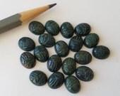 9 Genuine Bloodstone Green Scarab Cabochon Cab Stones 8x10