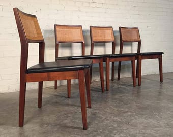 Jack Cartwright For Founders Mid-Century Modern Dining Chairs / Set Of Four  - SHIPPING NOT INCLUDED