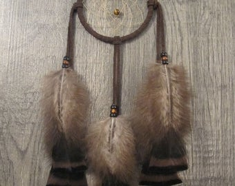 ON SALE Dream Catcher Chocolate Brown Suede with Turkey Flats