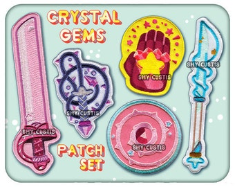 Shy: Gem Weapons (Patches, Bags, Prints, Stickers, Tees, and more.) Steven Universe