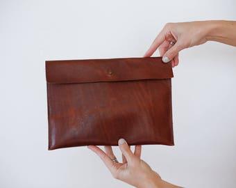 SALE- Sleeve Clutch in Mahogany