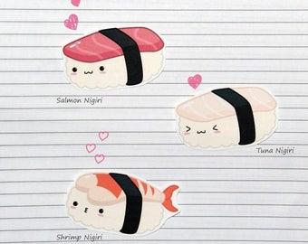 Chibi Nigiri Sushi Stickers and Magnets