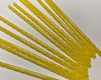 "9"" Yellow Plastic Reuseable Straw"