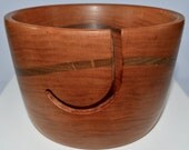 1029 Yarn bowl, made from Cherry, with a single wave of Black Walnut