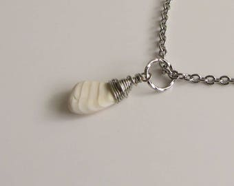 Sea Shell Necklace, Oregon Seashells Necklace, Beach Jewelry, Stainless Steel Boho Necklace, Sea Shells