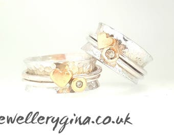 Eternal Love Wedding Rings, Her and Her