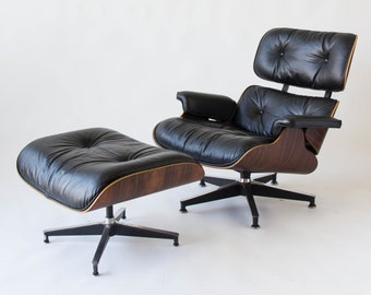 Items similar to feather eames lounge chair mid century for Mini eames lounge chair