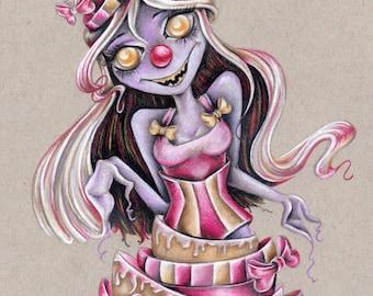 Cake Monster 8x10 Original