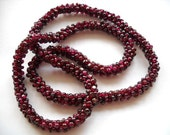 Reserved NATURAL PYROPE GARNET Vintage  Ruby Red Necklace, Circa 1950,  Gift Quality