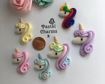 Pastel charms standard unicorn