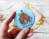 SALE Cute Gingerbread House Magnet Home Decor Kitchen Gift Home and Living Kitchen Decor Home Gift Pocket Mirror