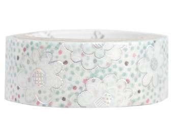 Glass Beads Silver Glitter Japanese Washi Tape Shinzi Katoh Design (ks-dt-10045) Buy other items together for BETTER price.
