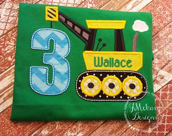 Construction Birthday Applique shirt - Customizable -  Infant to Youth 26b