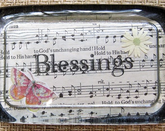 Blessings Lead Crystal Paperweight, hand made