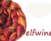 Blended roving tops - Spinning fibre - Merino wool - Bamboo - Mulberry silk - 100g - 3.5oz - ELFWINE