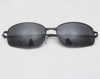 all black aviator sunglasses hewg  Rare 90's Vintage